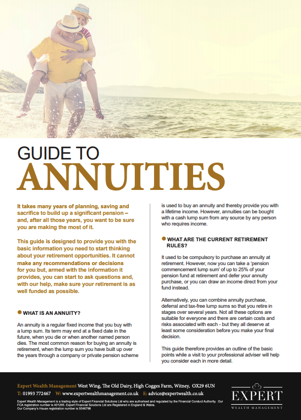 Guide To Annuities