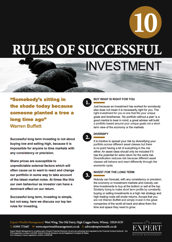 The 10 Rules Of Successful Investment